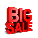 Big sale. 3d illustration  on white background Royalty Free Stock Image
