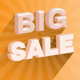 Big Sale 3D Promotion Flyer. Royalty Free Stock Image