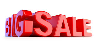 Big sale 3D red text Stock Image