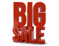 Big sale. 3d render big sale red symbol Royalty Free Stock Image