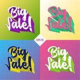 Big sale 3d set vector illustration