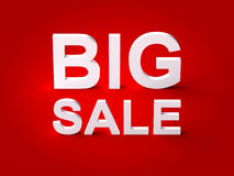 Big Sale 3d Text Stock Image