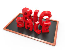 Big sale 3d word concept Stock Image