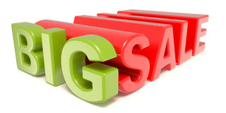 Big sale 3D words sign. 3D render illustration isolated on white background vector illustration