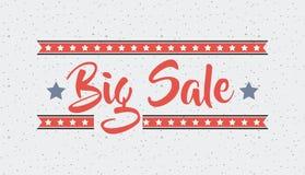 Big sale design. Big sale card with decorative stars. colorful design. vector illustration Stock Photo