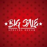 Big sale design. Big sale card over red background. colorful design. vector illustration Royalty Free Stock Photo