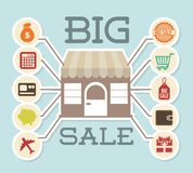 Big sale design Royalty Free Stock Photos