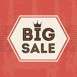 Big sale design. Over pink  background vector illustration Royalty Free Stock Photos