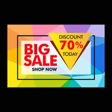 Big sale discount 70 advertise vector. Big sale discount 70 advertise design vector promotion sale Royalty Free Stock Image