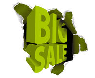 Big sale discount advertisement Stock Images