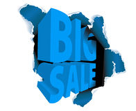 Big sale discount advertisement Stock Image