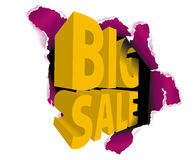 Big sale discount advertisement Stock Photos