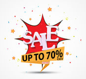 Big Sale discount Design. Illustration of Big Sale discount Design for shop and online store with Discount Royalty Free Stock Photos