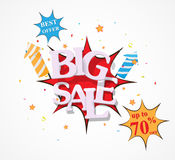 Big Sale discount Design Royalty Free Stock Images