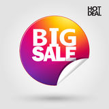 Big sale discount poster Royalty Free Stock Photos