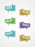 Big sale discount, saving, best price sticker. Royalty Free Stock Image