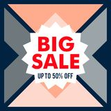 Big sale discount shape business vector banner royalty free stock photography
