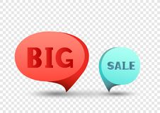 Big sale discount sticker set Royalty Free Stock Photography