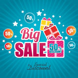 Big sale discounts and offers shopping Stock Images