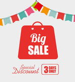 Big sale discounts and offers shopping Royalty Free Stock Photos