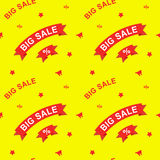 Big sale and discounts seamless pattern. Flat vector illustration for design Stock Images