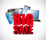 Big sale in electronics business sign Stock Photo