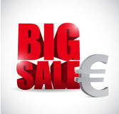 Big sale euro currency business sign Stock Image