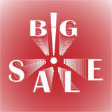 Big sale with exclamation mark Stock Images
