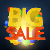 Big Sale Explosion With Color Spheres Stock Photo
