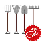 Big sale of farm tools Royalty Free Stock Photography
