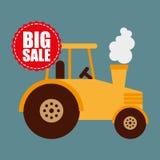 Big sale of farm tools Stock Photos