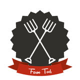 Big sale of farm tools Stock Images