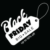 Big sale fifty percent on black friday shopping vector illustration Royalty Free Stock Image