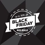 Big sale fifty percent on black friday shopping vector illustration Stock Photos