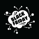 Big sale fifty percent on black friday shopping vector illustration Stock Photography