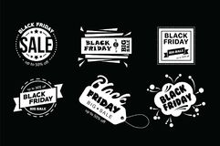 Big sale fifty percent on black friday shopping vector illustration Royalty Free Stock Photos