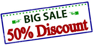 Big sale fifty percent discount Royalty Free Stock Images