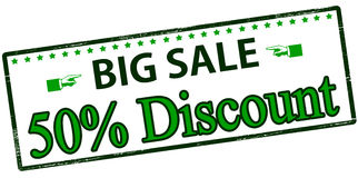Big sale fifty percent discount Royalty Free Stock Photography