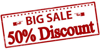Big sale fifty percent discount Stock Photography