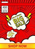Big Sale. Final sale poster or flyer design. Sale on colorful background. Vector illustration. Big Sale. Final sale poster or flyer design. Sale on colorful Stock Photography