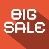 Big Sale Flat Design Vector Illustration Royalty Free Stock Photo