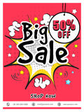 Big Sale Flyer, Banner or Poster design. Royalty Free Stock Photography