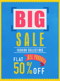 Big sale flyer, banner or poster. Stock Images