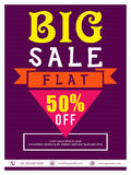 Big Sale Flyer, Banner or Poster design. Royalty Free Stock Images