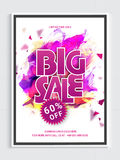 Big Sale Flyer or Banner. Stock Photography