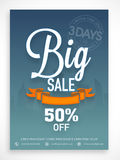 Big sale flyer, banner or template design. Stock Photography