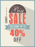 Big sale flyer, banner or template. Stock Photos