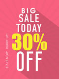 Big sale flyer, template or banner. Stock Image
