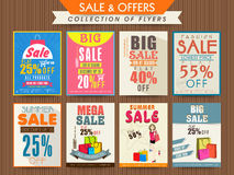 Big Sale Flyers collection. Stock Photography
