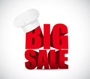 Big sale food chef business sign illustration Stock Image